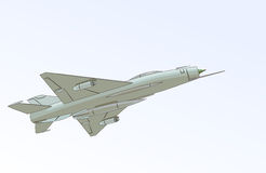 Mig-21 (Fishbed) stock illustratie