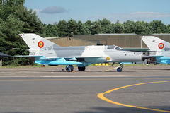 MiG-21 military fighter jet royalty free stock images