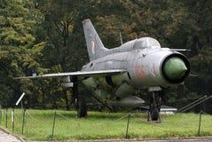 MIG-21 Radziecki wojownik, Warszawa, Polska Obraz Royalty Free