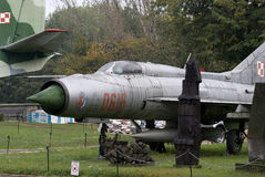 MIG-21 Soviet fighter, Warszawa, Poland Stock Photos