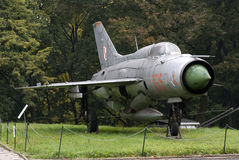 MIG-21 Soviet fighter, Warszawa, Poland Royalty Free Stock Image