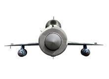 Mig-21 supersonische straalvechtersvliegtuigen Stock Foto's