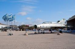 MiG-21U fighter jet. HATZERIM, ISRAEL - JANUARY 02: MiG-21U retro fighter jet is displayed in Israeli Air Force Museum on January 02, 2012 in Hatzerim, Israel Stock Photo
