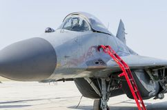 Mig-29 fighter airplane Stock Photography
