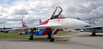 MIG-29 fighter plane 1 Stock Photos
