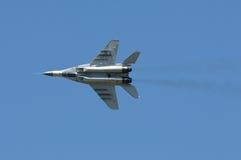 MiG 29 in flight Royalty Free Stock Photo