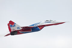 Mig-29 side view Stock Image