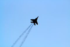 MIG-29 silhouette Royalty Free Stock Image