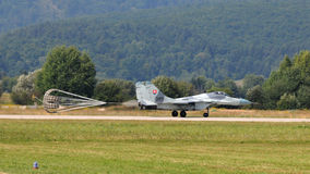 MiG-29 Slovak Air Force - landing Stock Photography