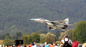 MiG-29 Slovak Air Force - low flying Royalty Free Stock Photo