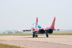 MiG-29 taxiing Royalty Free Stock Photo