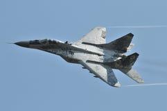 MiG29AS斯洛伐克空军队 库存照片