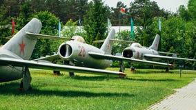 Mig-17 en mig-19 zijn Russische Sovjet hoog-subsoon Stock Afbeeldingen