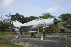 The MIG-21 - exhibit city Museum Hue. Vietnam Stock Photography