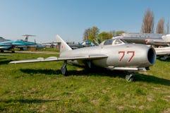 MiG-17F υψηλός-υποηχητικά μαχητικά αεροσκάφη νωπογραφίας Στοκ φωτογραφία με δικαίωμα ελεύθερης χρήσης