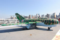 MIG Fighter Jet. A MIG aircraft on deck of The Intrepid Aircraft Carrier in New York City Stock Photos