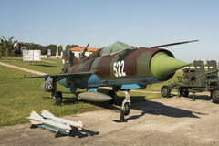 MIG 21 fighter jet Havana Royalty Free Stock Photography