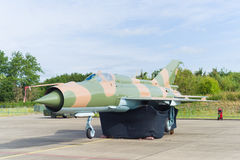 MIG-21 fighter jet Stock Images