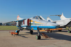 The MiG-23 fighter stock photo