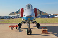 The MiG-23 fighter stock photography