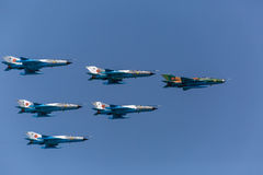 MIG 29 formation Stock Photo