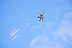 Mig-29 Fulcrum ostrzału racy Obraz Royalty Free