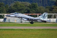 Mig 29 Fulcrum Polskie siły powietrzne Zdjęcia Royalty Free