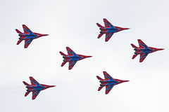 Mig-29 group, bottom view Stock Images