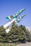 Mig-15 hyvlar krigminnesmärken i Krasnodar Royaltyfria Foton