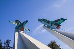 Mig-15 hyvlar krigminnesmärken i Krasnodar Royaltyfri Bild