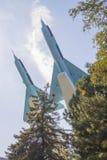 Mig-15 hyvlar krigminnesmärken i Krasnodar Royaltyfri Fotografi