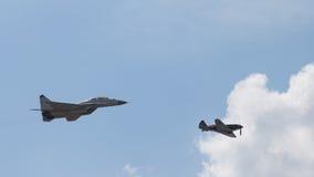 MiG 35 i MiG 3 Obraz Stock