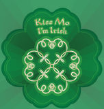 mig irländsk kyss M mig Royaltyfria Bilder