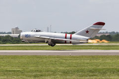 Mig Jet with exhaust fire Royalty Free Stock Photography