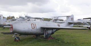 MiG--9-Jetkämpe (1946) Den första seriella sovjetiska strålkämpen Royaltyfria Foton