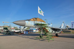The MiG-29K fighter stock images