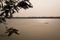 Mig Khong flod royaltyfria foton