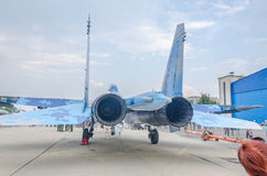 Mig 21 Lancer open for visitators. The engines. Royalty Free Stock Photo