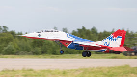The MiG-29 is landing Stock Photography