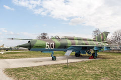 MIG 21 m. Fishbed J Jet Fighter Immagine Stock