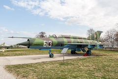 MIG 21 M Fishbed J Jet Fighter Stock Photo