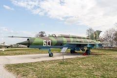 MIG 21 M Fishbed J myśliwiec odrzutowy Zdjęcie Stock