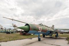 MIG 21 MF-R Fishbed Jet Fighter Images libres de droits