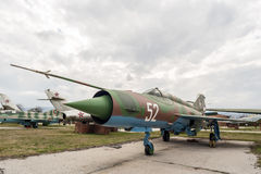 MIG 21 MF-R Fishbed Jet Fighter Royalty Free Stock Images