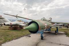 MIG 21 MF-R Fishbed myśliwiec odrzutowy Zdjęcia Royalty Free