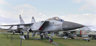 MiG-31-, Militärt jaktplan (1975) Royaltyfria Bilder