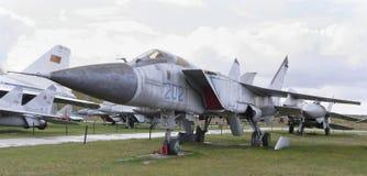 MiG-31-, Militärt jaktplan (1975) max hastighet km/h-3000 Arkivbild