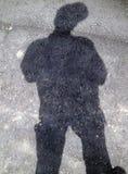 mig min skugga Arkivfoto