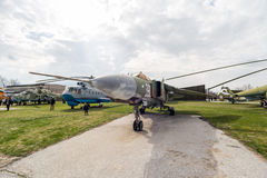 MIG 23 MLA鞭击者G喷气式歼击机 库存图片