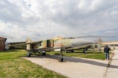 MIG 23 MLA Flogger G myśliwiec odrzutowy Obrazy Royalty Free